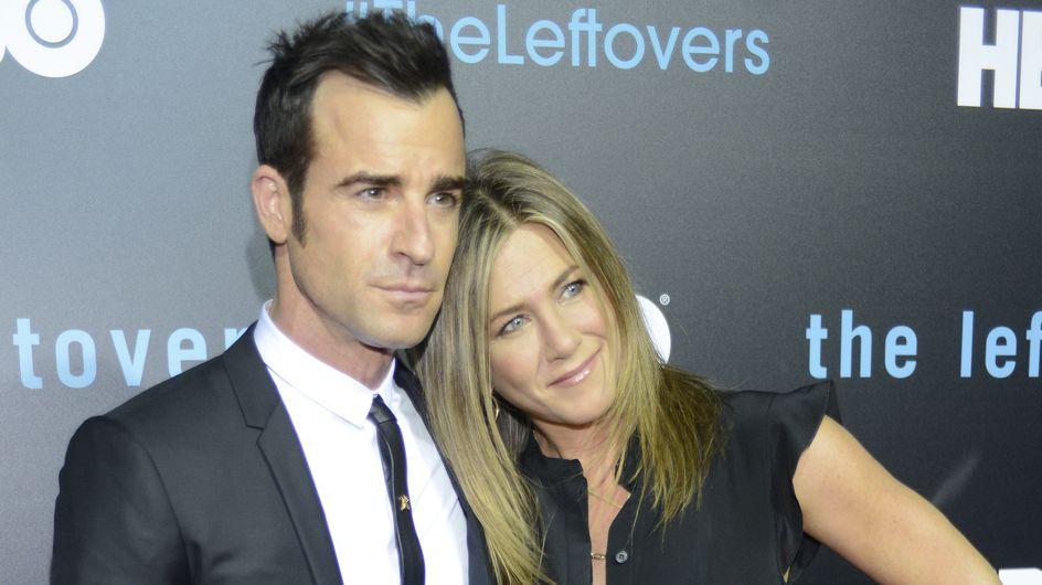 Première sortie officielle pour les jeunes mariés Justin Theroux et Jennifer Aniston (Photos)