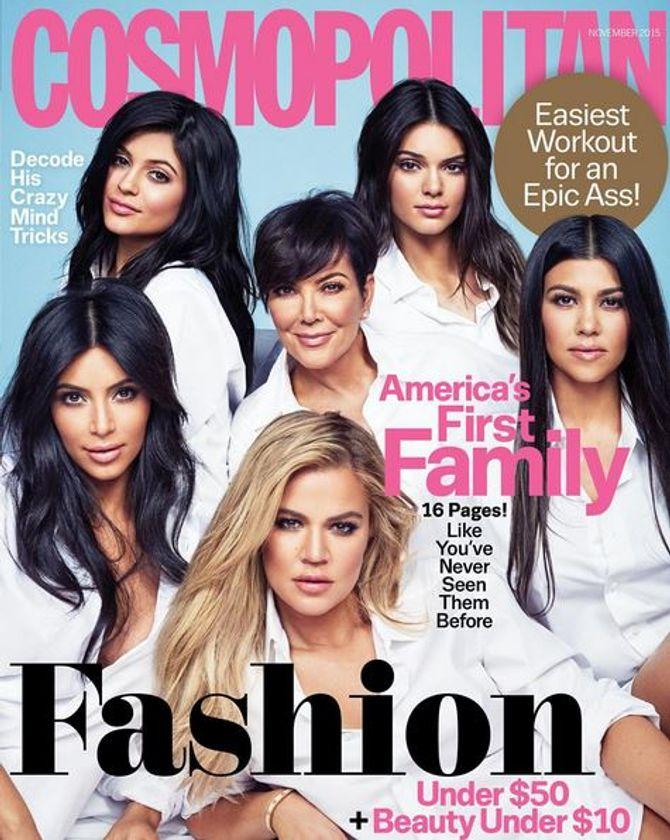 Les Kardashian en couverture de Cosmopolitan US