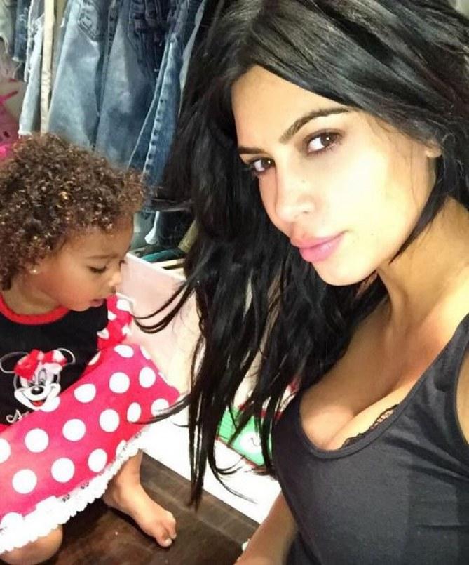 North et Kim Kardashian.