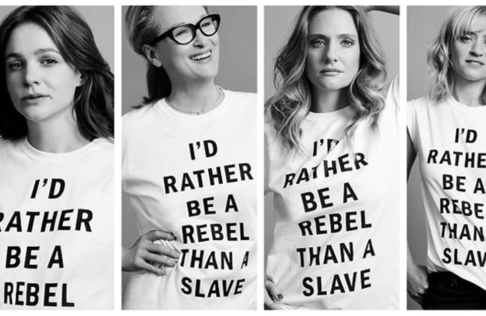 Meryl Streep And Co-stars Face Backlash Over Suffragette T-Shirts