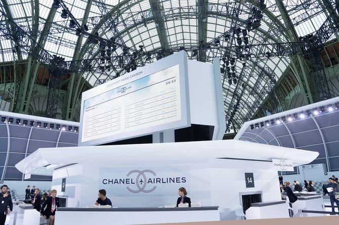 Le décor aérien du défilé Chanel