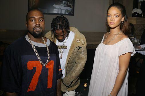 Kanye West, Travis Scott et Rihanna