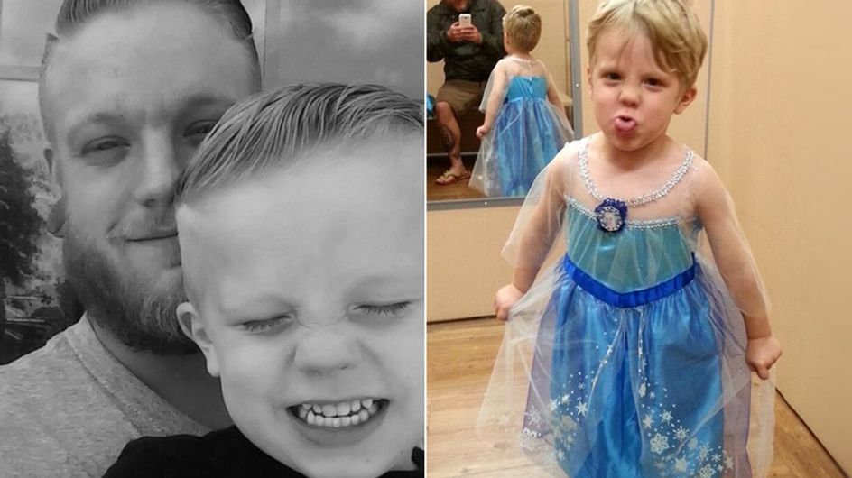 Dieser kleine Junge möchte sich als Prinzessin verkleiden - die Reaktion seines Papas wird euch begeistern
