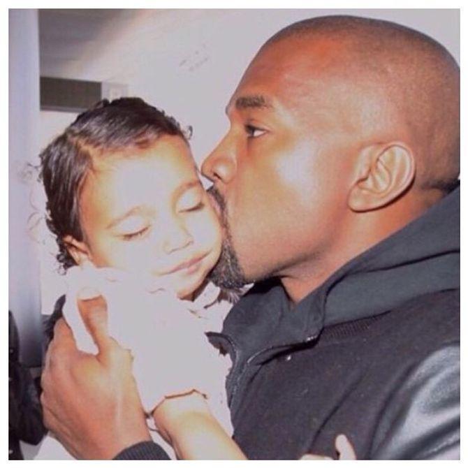 Kanye et North West.