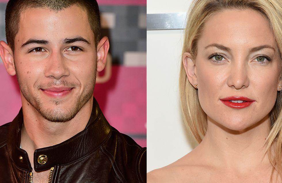 Nick Jonas não falou... mas uma fonte próxima a Kate Hudson esclareceu