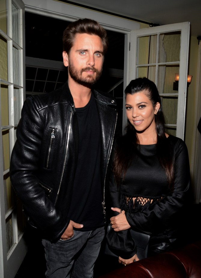 Scott Disick et Kourtney Kardashian en avril 2015