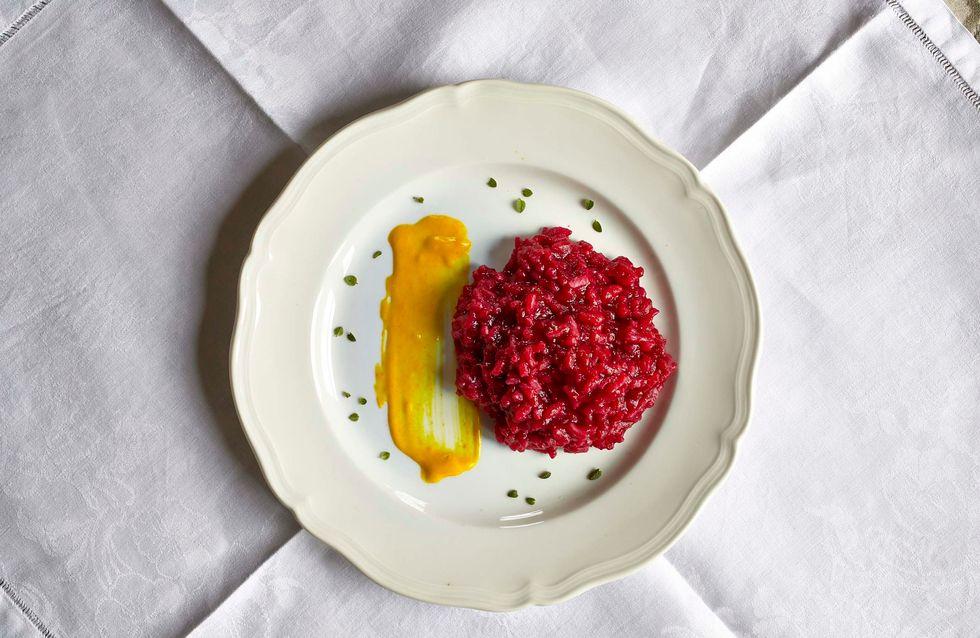"""Risotto alla barbabietola con salsa di Prosecco e Zafferano, il """"Cavallo di Battaglia"""" in cucina di Yolanda Garretti"""
