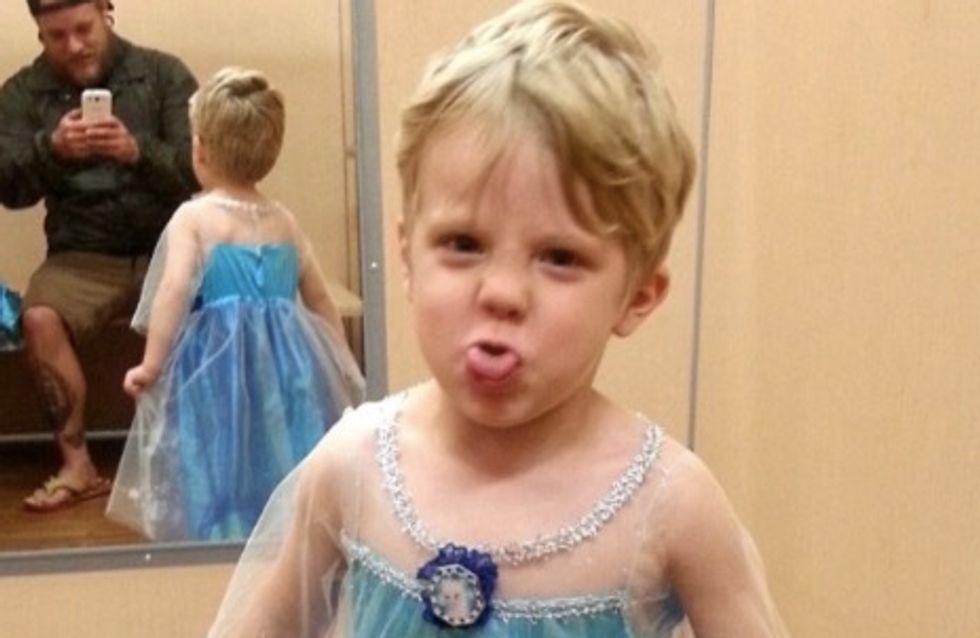 Un papa fier que son fils se déguise en Elsa de La Reine des neiges pour Halloween (Photos)