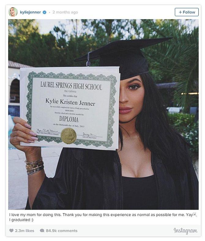N°5 Kylie Jenner avec 2,3 millions de likes