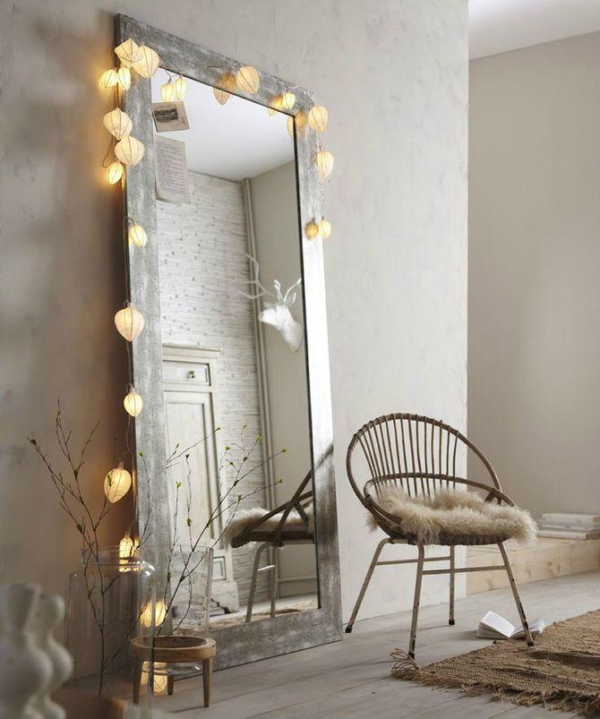 Miroir lumineux pour déco cosy