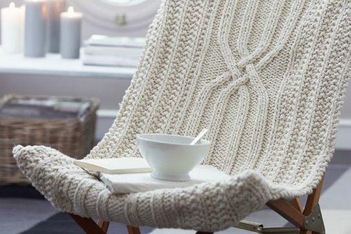 Siège cocooning en laine