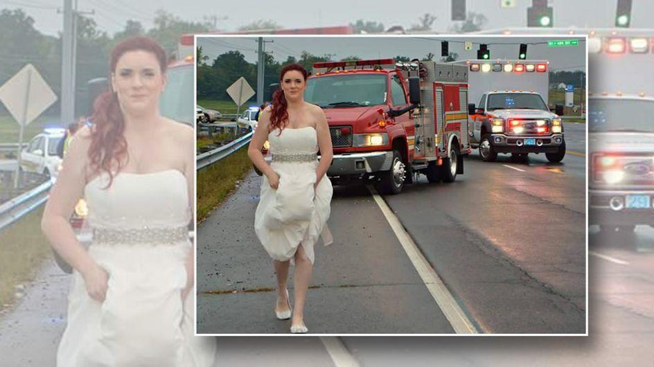 Selbst ihre eigene Hochzeit hält diese Frau nicht davon ab, Leben zu retten