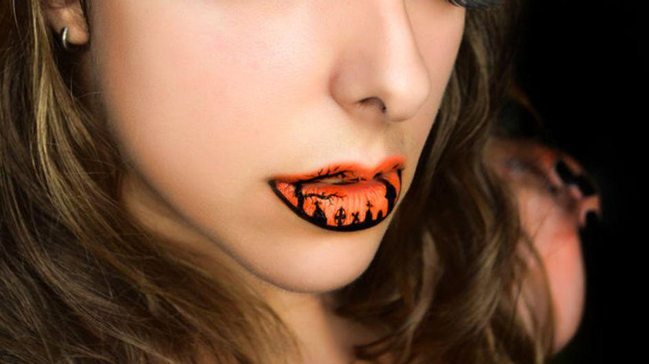 Lip art : Des lèvres terriblement bluffantes pour Halloween