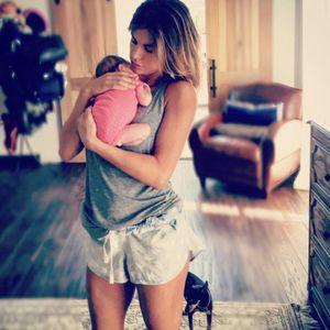 Elisabetta e la piccola Skyler Eva