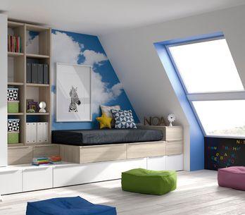 Habitaciones infantiles en áticos: un paseo por las nubes