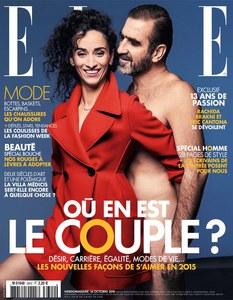Eric Cantona et Rachida Brakni en couverture de ELLE