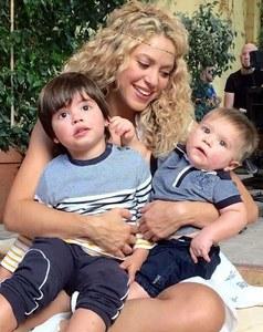 Shakira et ses enfants.