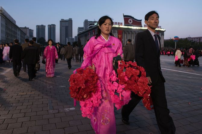 Un couple de Corée du Nord.