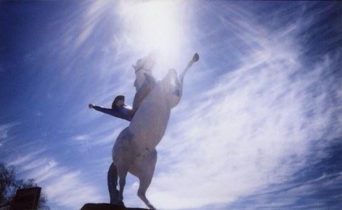 Eine Statue in Kanab, Utah