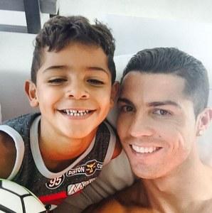Cristiano Ronaldo et son fils