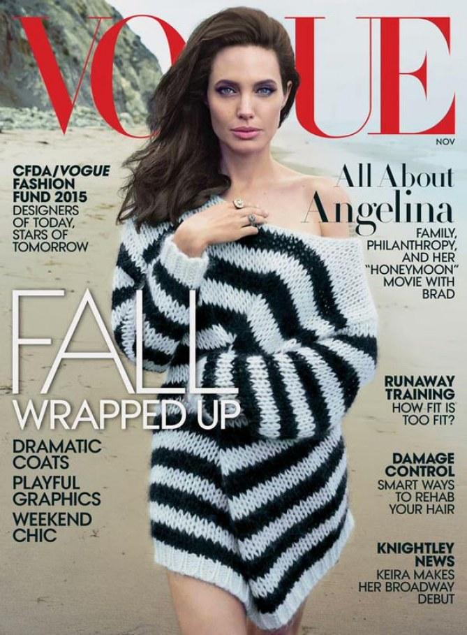 Angelina Jolie pour Vogue
