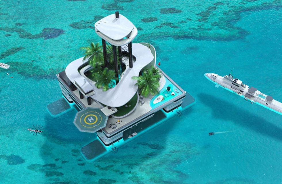 La primera isla privada portátil, Kokomo