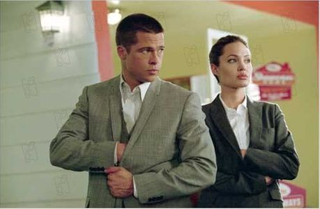 Brad Pitt et Angelina Jolie dans Mr & Mrs Smith.
