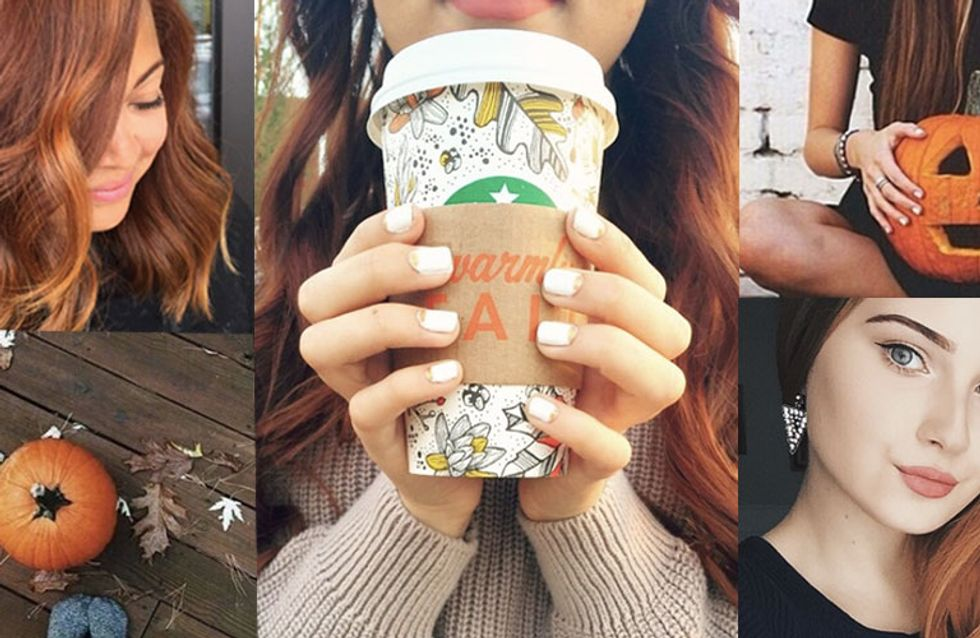 Pumpkin Spice Latte Hair Is The Starbucks Trend Taking Over Our Tresses