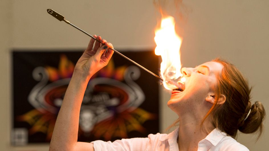 We Went To A Fire Eating Class And Didn't Die. Here's What Happened