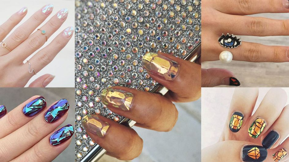 Everyone Is Losing Their Minds Over These Shattered Glass Manicures