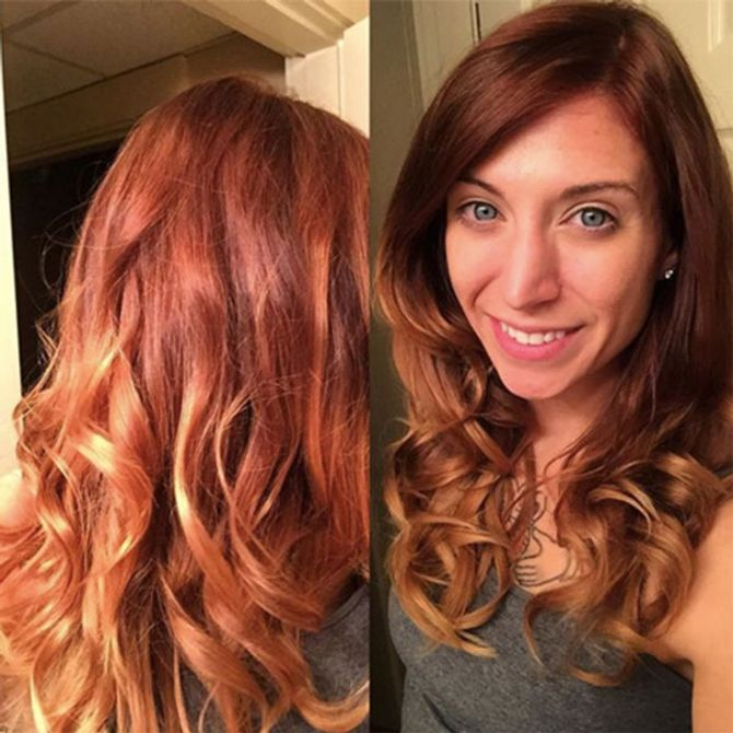 Pumpkin Spice Latte Hair The Starbucks Trend Taking Over Our Tresses