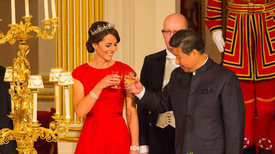 Kate Middleton, véritable reine lors de son premier banquet d'Etat (Photos)