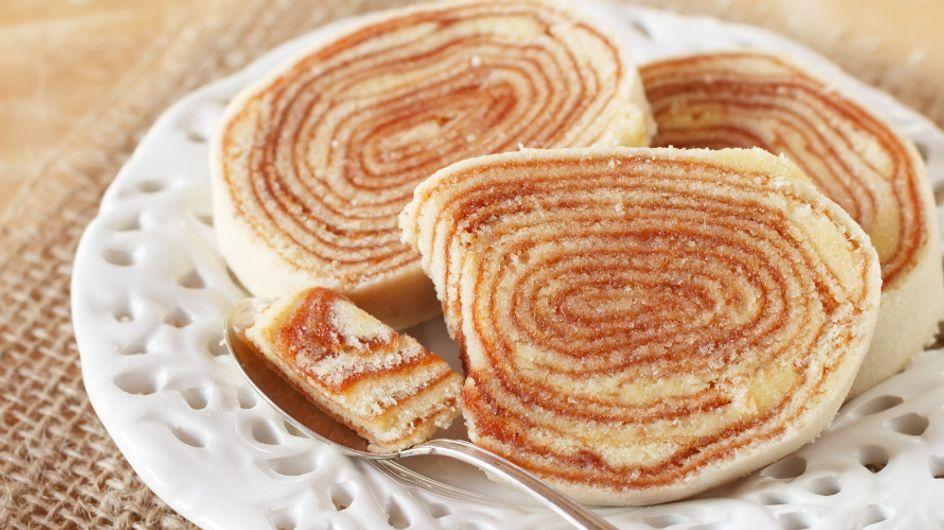 Que tal uma fatia de bolo de rolo para o café da tarde? O passo a passo você vê aqui
