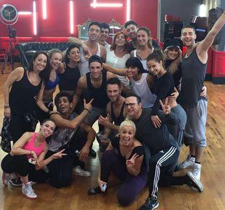 Grégoire Lyonnet et les danseurs pro de DALS 6