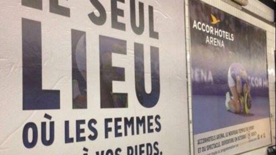Une publicité jugée sexiste retirée du métro parisien (Photo)