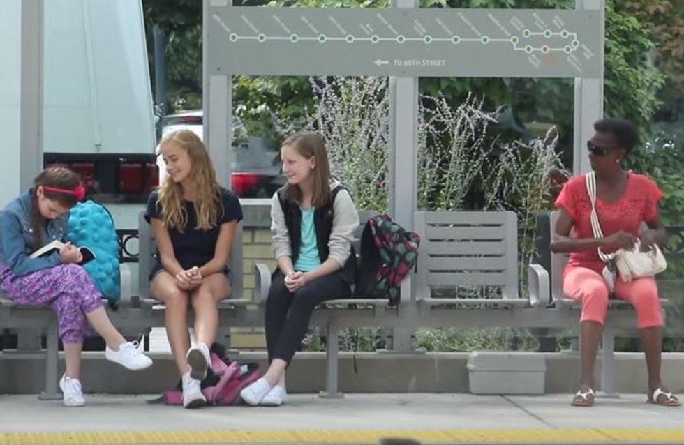 So unerwartet reagieren Fremde, als ein Mädchen neben ihnen fies gemobbt wird