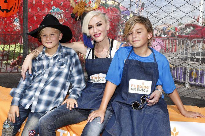 Gwen Stefani et ses fils.