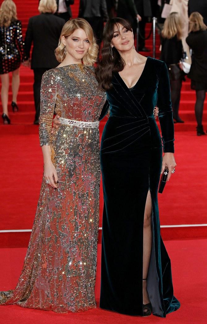 Léa Seydoux et Monica Bellucci à l'avant première de Spectre