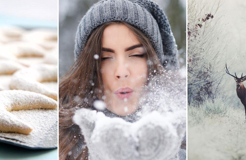 Schneeweiß, Glühweinrot oder Eisblau: Welche Winterfarbe hat deine Seele? Mach den Test!