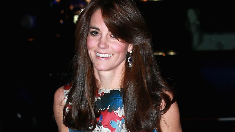 Kate Middleton ose le look fleuri pour un dîner de gala (Photos)