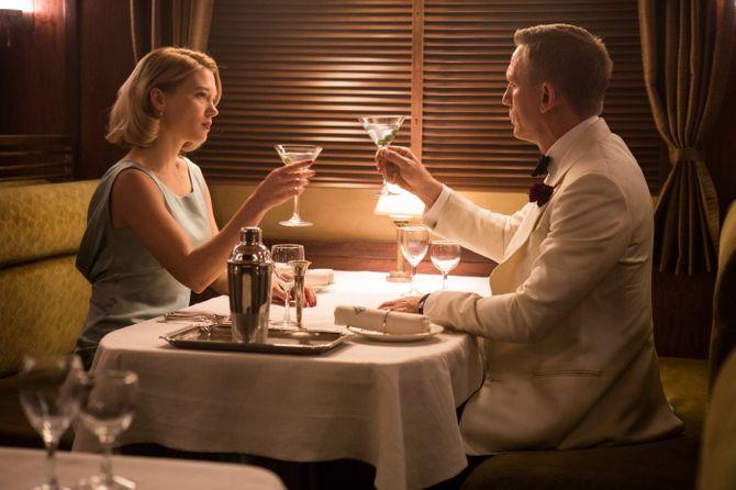 Léa Seydoux et Daniel Craig dans Spectre