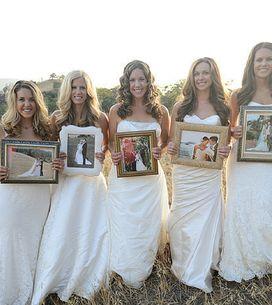 5 sorelle in abito da sposa ringraziano i propri genitori per averle sempre supp