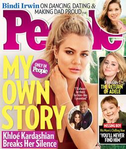 Khloé Kardashian en couverture de People