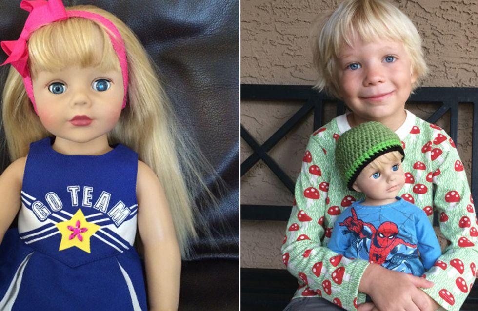 Als ihr Sohn sich eine Puppe wünscht, die aussieht wie er, reagiert diese Mutter genau richtig