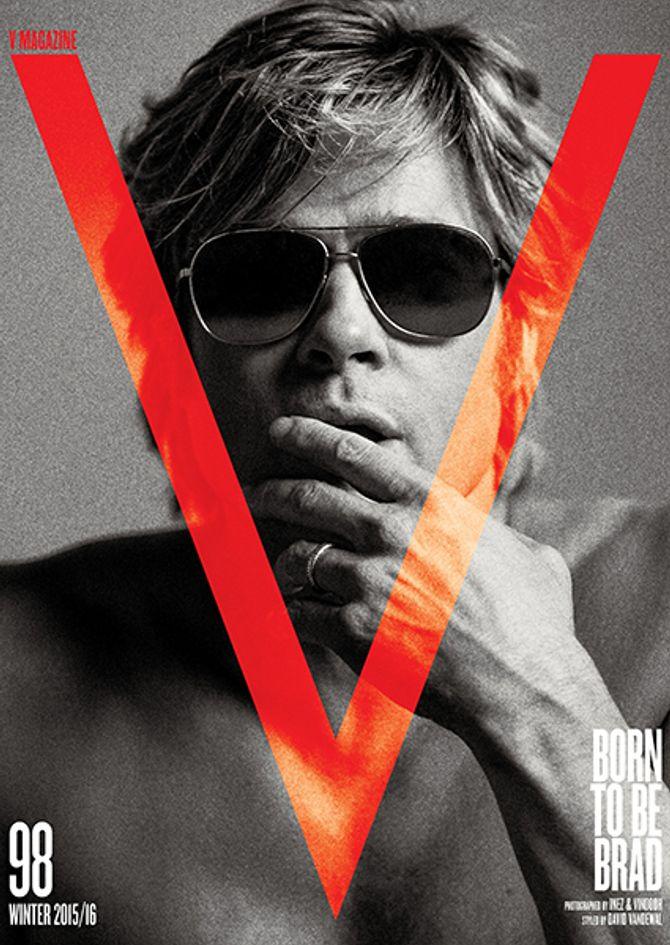 Brad Pitt pour V Magazine