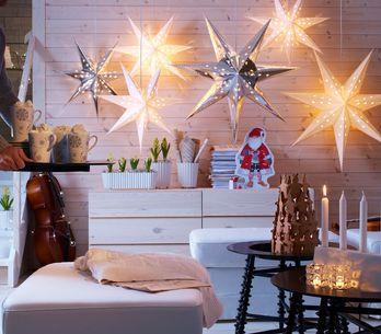 Más de 40 ideas de decoraciones con luces de Navidad