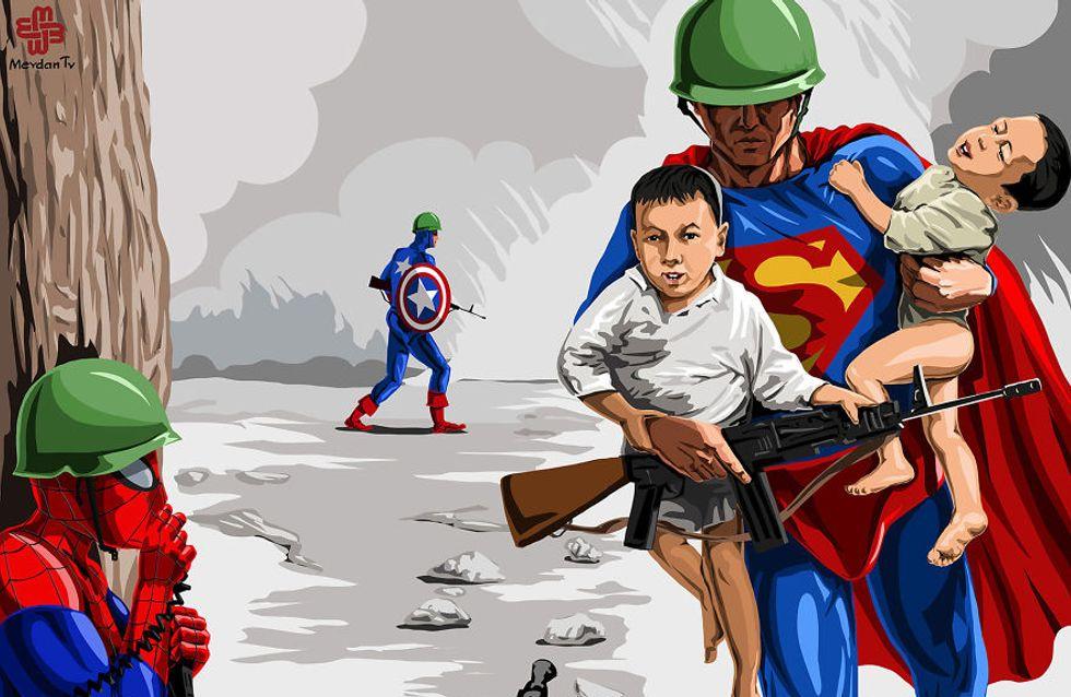 Imágenes de niños en la guerra: realidad vs ficción