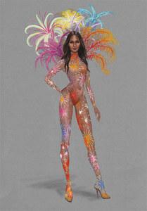 Le croquis Fireworks du défilé Victoria's Secret 2015