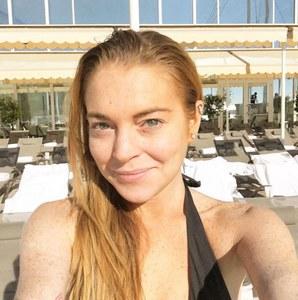 Lindsay Lohan sans maquillage.