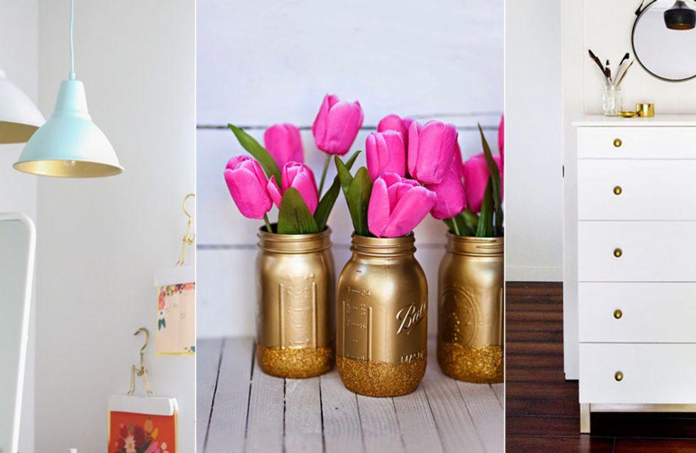 Glänzende Aussichten: 7 coole Hacks mit Gold-Spray, um deine Wohnung zu verschönern